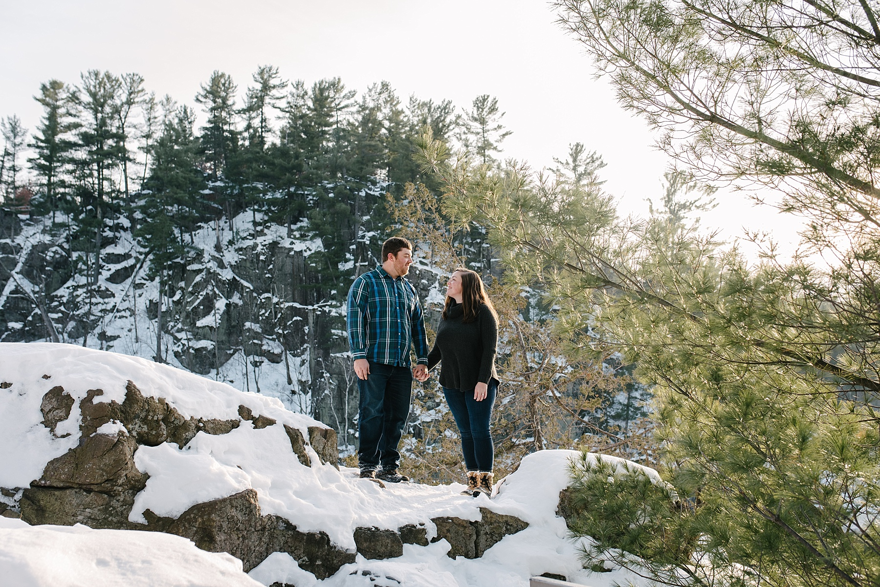 interstate state park winter engagement session